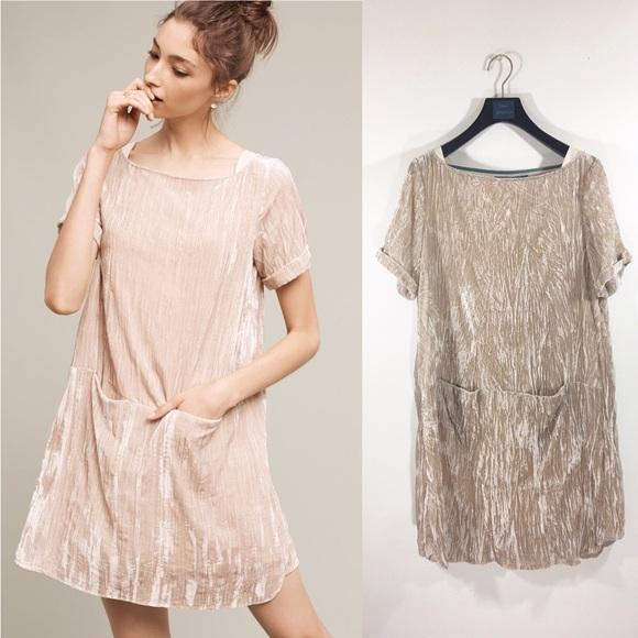 7b64b35fdac2 Anthropologie Dresses & Skirts - Anthropologie Floreat Crushed Velvet Dress  Size XS